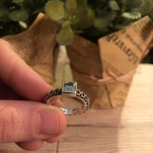 Jewelry - Sterling silver and aquamarine ring size 8